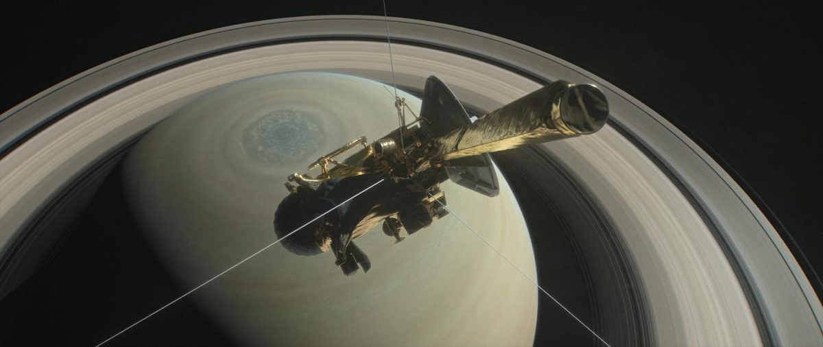 NASA%27s+Cassini+pictured+above+Saturn%27s+Northern+Hemisphere+