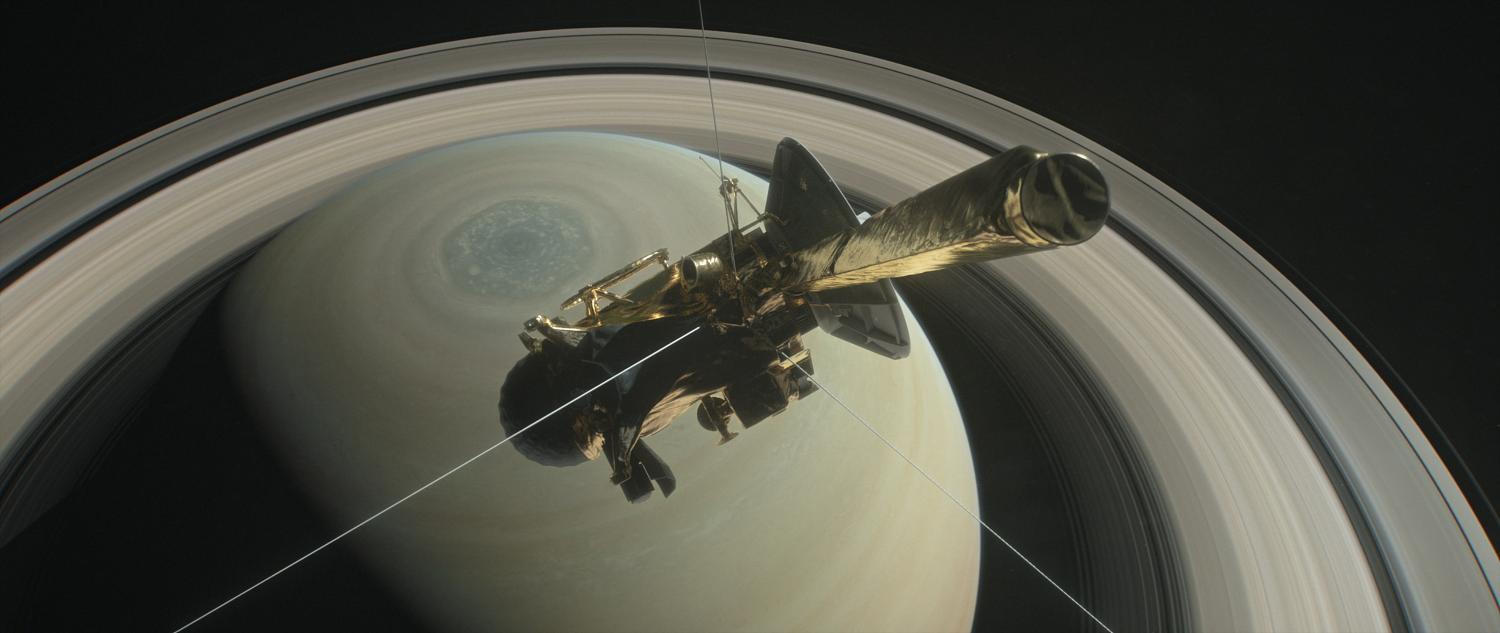 NASA's Cassini pictured above Saturn's Northern Hemisphere