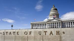 The Utah Capitol building in downtown Salt Lake City